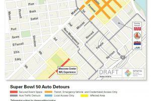 Super Bowl 50 Road Closures and Detours